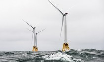off shore wind and wave powered energy turbines