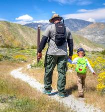 Be a bat hero_ Father and sun walk on PCT trail