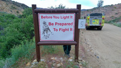 """BLM Sign """"Before you Light be prepared to fight"""""""