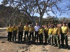 Zinke visits Nov. 2018 CA wildfires. Photo bu DOI.