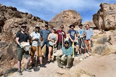 Volunteers at the Volcanic Tablelands. Photo by Meg Tracy, BLM.