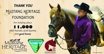 BLM recognizes Mustang Heritage Foundation's contribution. Photo by BLM.