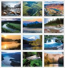 US Postal Service 2019 stamps featuring Wild and Scenic Rivers. Photo by USPS.