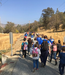 3rd graders visit San Joaquin River Gorge. Photo by Somer Shaw, BLM.
