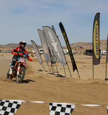 Racer coming into the finish line. Photo by BLM photo.