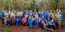 Volunteers at the Elk River Restoration Day. Photo by BLM.