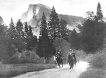 Yosemite visit by Roosevelt and Muir. Historic DOI photo.