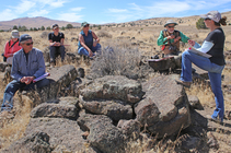Public visitors at a wild horse herd management area. Photo by BLM.