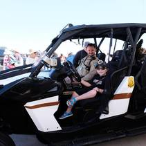 BLM Ranger hosts young boy and his service dog. Photo courtesy of family.