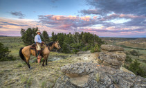 Horseback riding on public lands. Photo by Bob Wick, BLM.