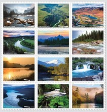 Wild and Scenic Rivers USPS stamps.