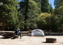 Camping in the forest. Photo by USFS.