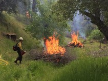 2019 Rx burn on public lands.  Photo by Steve Watkins, BLM.
