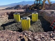 Broadband infrastructure in California desert. Photo by BLM.