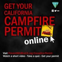 CA campfire permit promo graphic