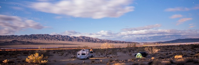 Camping in the California desert. Photo by Kyle Sullivan, BLM.