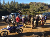 Safety briefing at South Cow Mountain OHV Management Area. Photo by BLM.