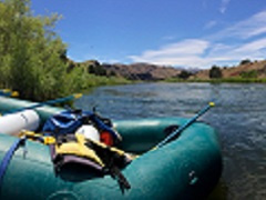 A raft on the John Day river.