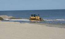 Bulldozer on a beach