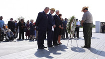 Sect. Bernhardt and Pence at flight 93 memorial ceremony.
