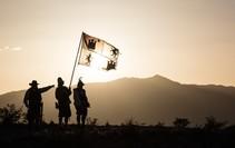 Historical rein actors at the El Camino Real de Tierra