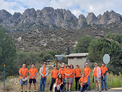 Volunteers participating in National Public Lands Day