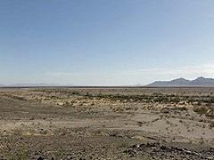 A photograph of a desert area in California