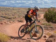 Photo of man on a mountain bike.