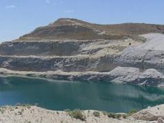 A terraced hillside mining site. (BLM photo)