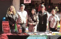BLM employees at a booth.