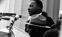 Martin Luther King Jr. speaking at the Lincoln Memorial in 1963