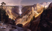 A landscape painting by Moran
