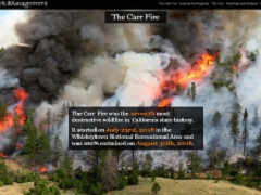 Screen shot of a web page about wildfire.