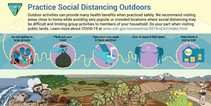 An info-graphic about recreating outdoors during the Coronavirus pandemic.
