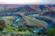 A river winding through a landscape.