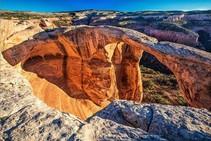 Natural formed sandstone arch