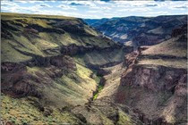 A photo of a canyon.