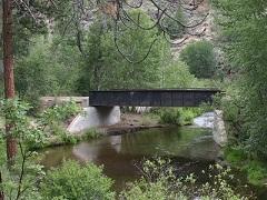 A metal bridge.