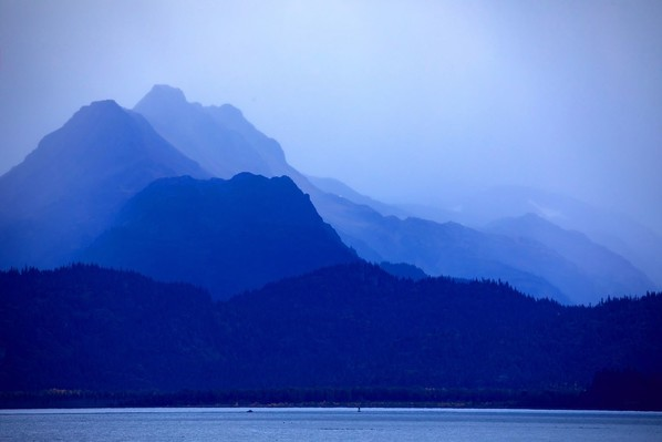 The Kachemak Bay Mountains, part of the Alaska Maritime National Wildlife Refuge