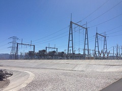 An electric substation.