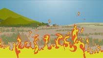 A graphic of a fire.