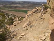 Ranger Blevins on a trail.