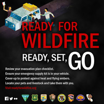 An info graphic about wildfire preparedness.