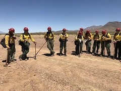 BLM wildfire fighters.