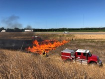 BLM Firefighters performing a prescribed burn.