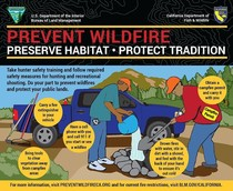 An info graphic that describes preventing human caused wildfires.