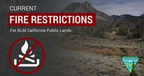 Info graphic that reads current fire restrictions.