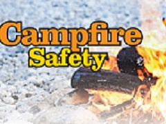 A graphic that reads Campfire safety