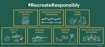 An info graphic about recreating responsibly