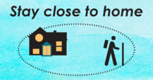 Stay close to home graphic